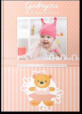 Fotoksiążka dziecięca dziewczęca A4 Pion